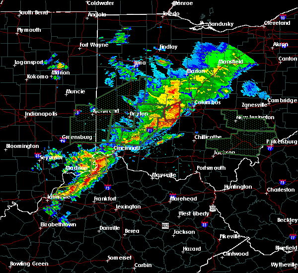 Radar Image for Severe Thunderstorms near South Vienna, OH at 4/3/2018 5:27 PM EDT
