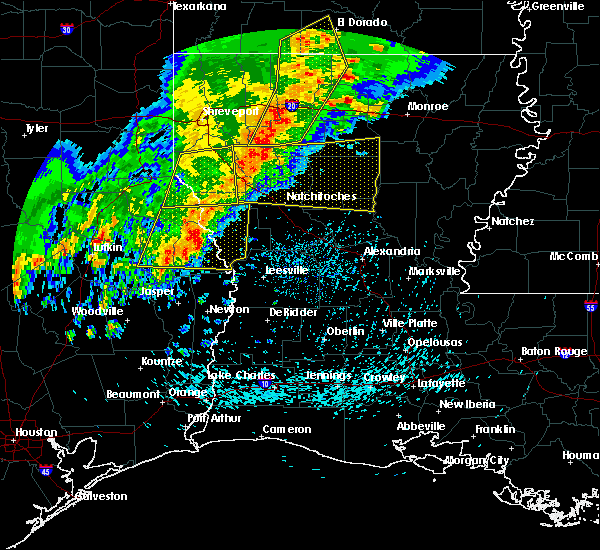 Radar Image for Severe Thunderstorms near Fisher, LA at 4/3/2018 5:06 PM CDT