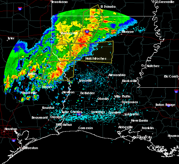 Radar Image for Severe Thunderstorms near Hodge, LA at 4/3/2018 5:08 PM CDT