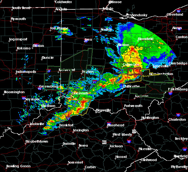 Radar Image for Severe Thunderstorms near Felicity, OH at 4/3/2018 6:09 PM EDT