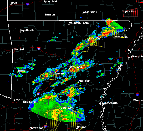 Radar Image for Severe Thunderstorms near Newark, AR at 4/3/2018 5:20 PM CDT