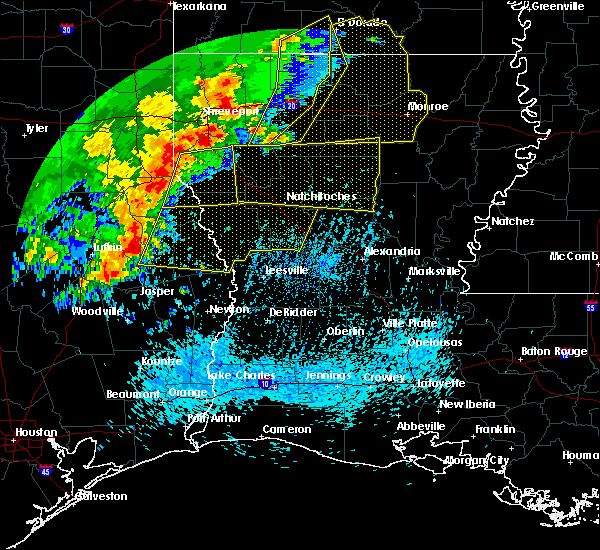 Radar Image for Severe Thunderstorms near Fisher, LA at 4/3/2018 5:21 PM CDT