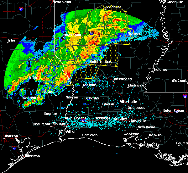 Radar Image for Severe Thunderstorms near Fisher, LA at 4/3/2018 5:24 PM CDT
