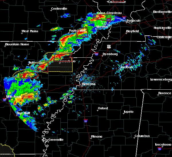 Radar Image for Severe Thunderstorms near Paragould, AR at 4/3/2018 5:33 PM CDT