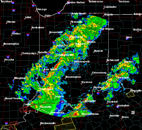 Radar Image for Severe Thunderstorms near Darlington, IN at 4/3/2018 7:44 PM EDT