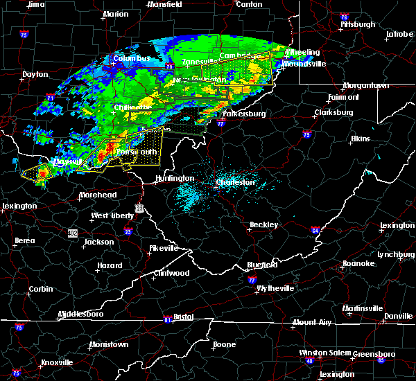 Radar Image for Severe Thunderstorms near Otway, OH at 4/3/2018 7:40 PM EDT
