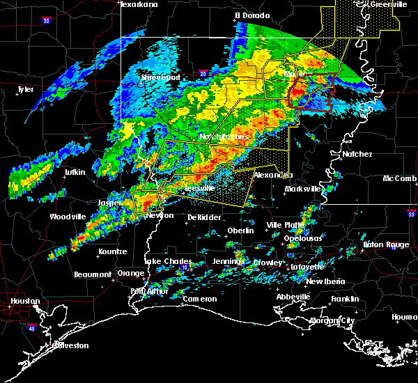 Radar Image for Severe Thunderstorms near Urania, LA at 4/3/2018 6:42 PM CDT