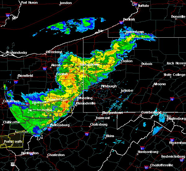 Radar Image for Severe Thunderstorms near Lafferty, OH at 4/3/2018 7:42 PM EDT