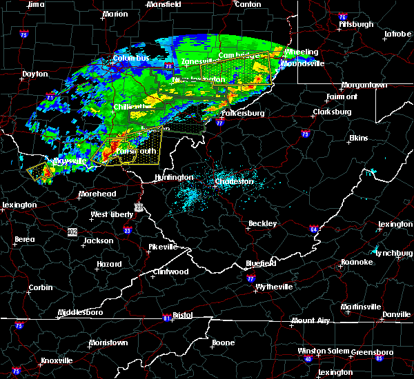 Radar Image for Severe Thunderstorms near South Shore, KY at 4/3/2018 7:45 PM EDT