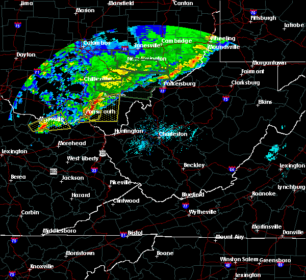 Radar Image for Severe Thunderstorms near South Shore, KY at 4/3/2018 7:56 PM EDT