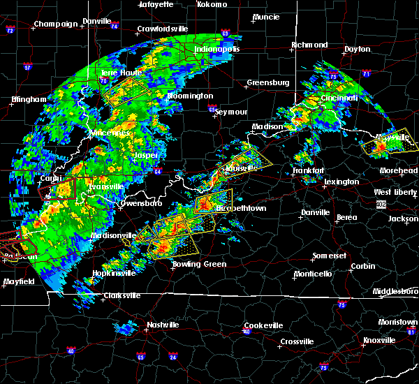 Radar Image for Severe Thunderstorms near Utica, KY at 4/3/2018 7:58 PM EDT