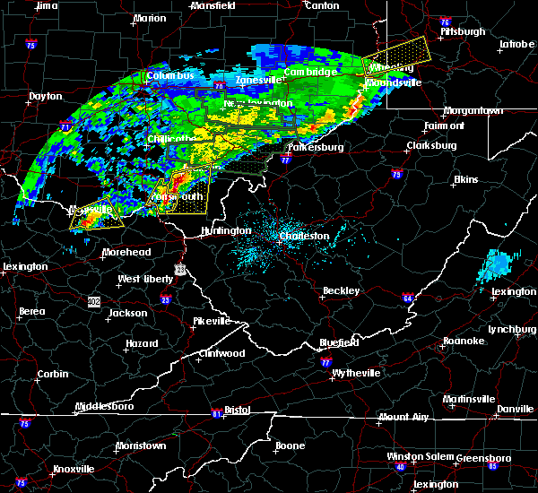Radar Image for Severe Thunderstorms near Jackson, OH at 4/3/2018 8:05 PM EDT