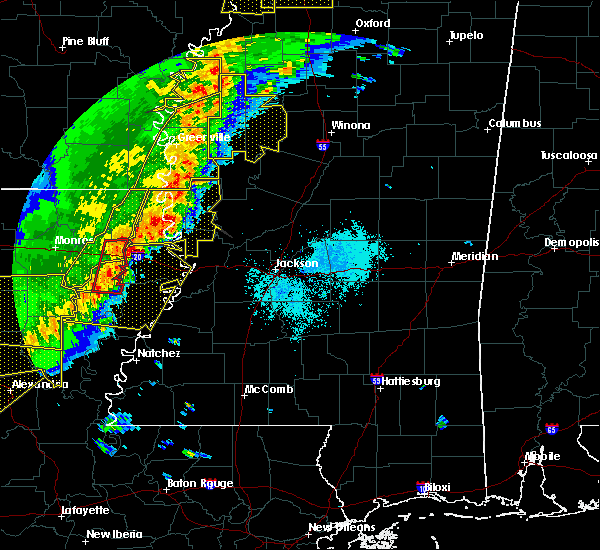 Radar Image for Severe Thunderstorms near Inverness, MS at 4/3/2018 7:12 PM CDT