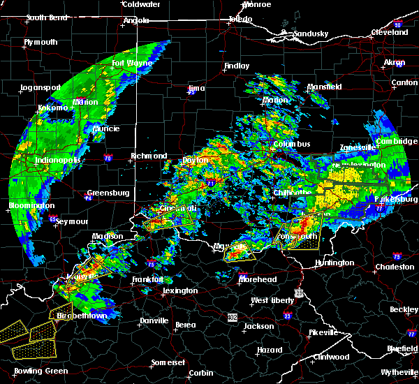 Radar Image for Severe Thunderstorms near Cincinnati, OH at 4/3/2018 8:12 PM EDT
