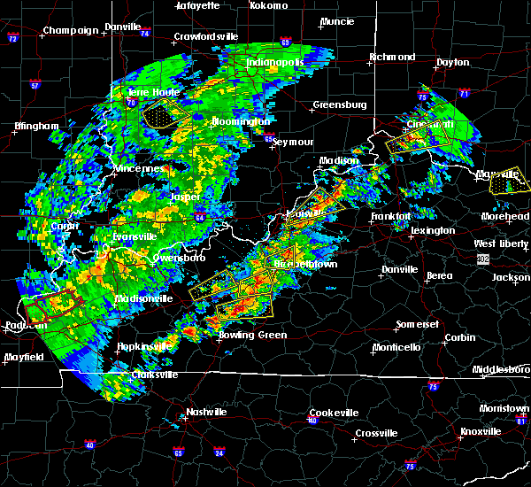 Radar Image for Severe Thunderstorms near Coldstream, KY at 4/3/2018 8:16 PM EDT