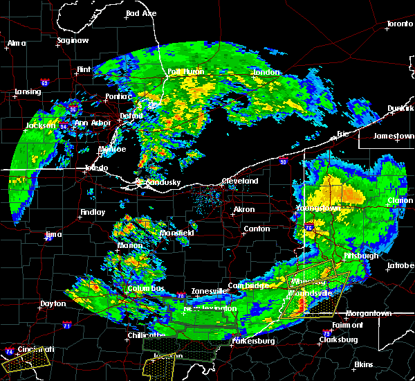 Radar Image for Severe Thunderstorms near Attica, OH at 4/3/2018 8:19 PM EDT