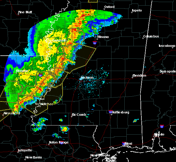 Radar Image for Severe Thunderstorms near Natchez, MS at 4/3/2018 7:47 PM CDT