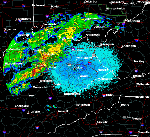 Radar Image for Severe Thunderstorms near Lancaster, KY at 4/3/2018 10:00 PM EDT