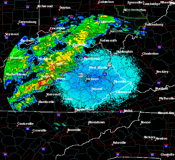 Radar Image for Severe Thunderstorms near Mount Vernon, KY at 4/3/2018 10:05 PM EDT