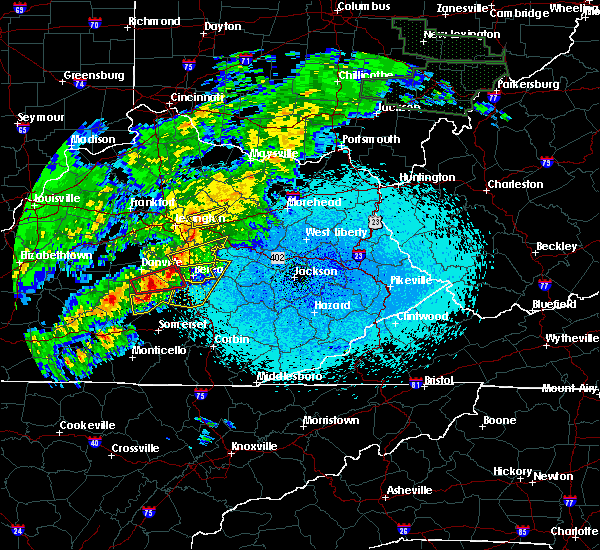 Radar Image for Severe Thunderstorms near Richmond, KY at 4/3/2018 10:08 PM EDT