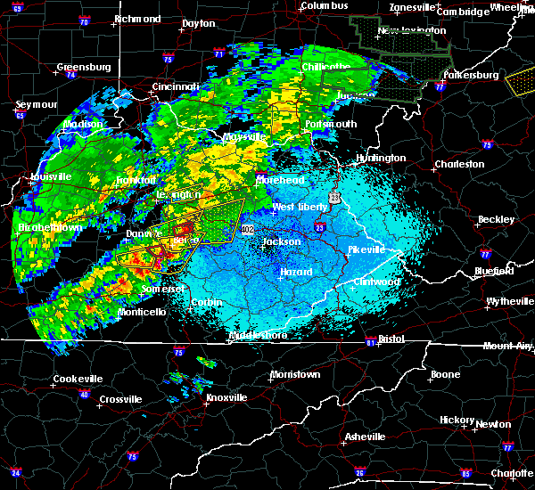 Radar Image for Severe Thunderstorms near Mount Vernon, KY at 4/3/2018 10:24 PM EDT