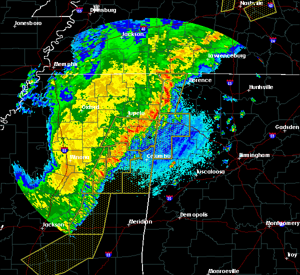 Radar Image for Severe Thunderstorms near Crawford, MS at 4/3/2018 9:25 PM CDT