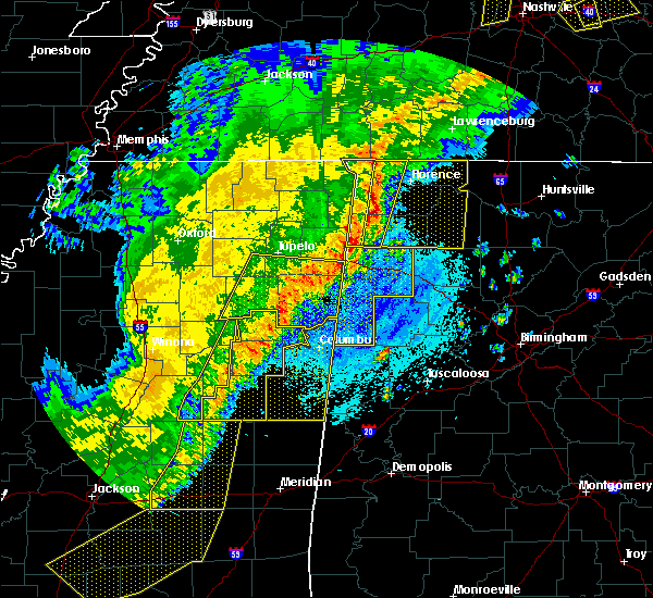 Radar Image for Severe Thunderstorms near Russellville, AL at 4/3/2018 9:31 PM CDT