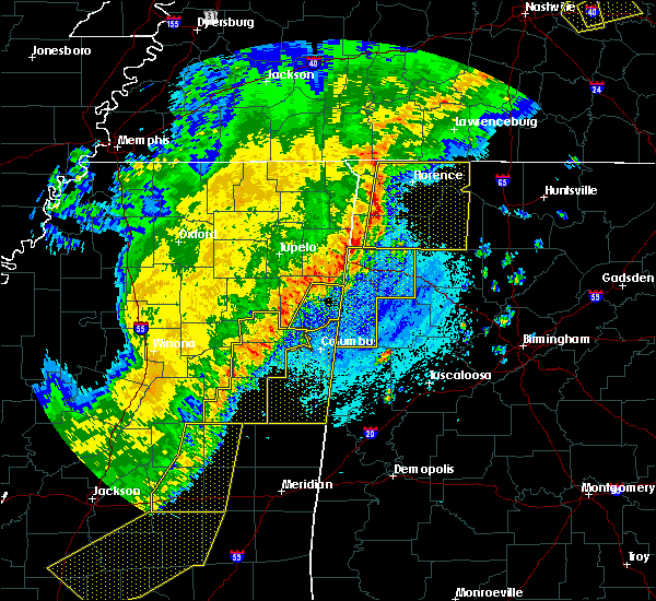 Radar Image for Severe Thunderstorms near Gattman, MS at 4/3/2018 9:32 PM CDT