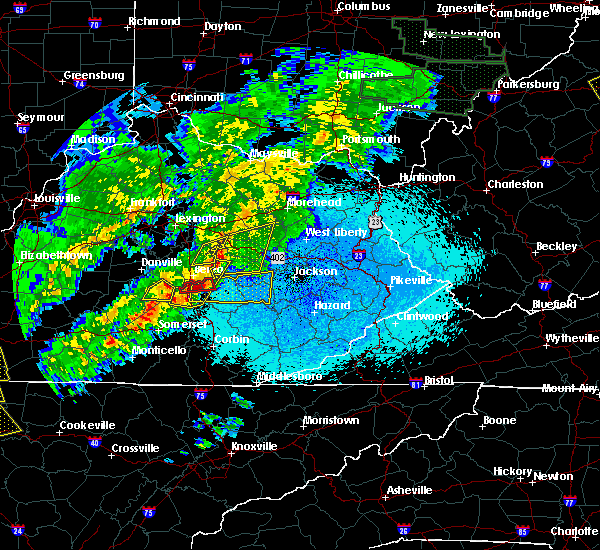 Radar Image for Severe Thunderstorms near Mount Vernon, KY at 4/3/2018 10:37 PM EDT