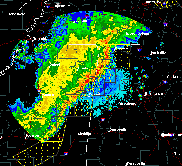 Radar Image for Severe Thunderstorms near Sturgis, MS at 4/3/2018 9:38 PM CDT