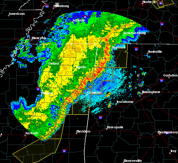 Radar Image for Severe Thunderstorms near Town Creek, AL at 4/3/2018 9:44 PM CDT