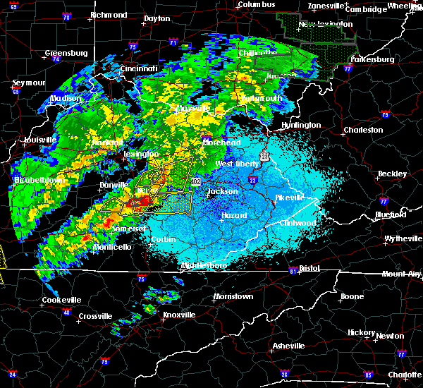Radar Image for Severe Thunderstorms near Crab Orchard, KY at 4/3/2018 10:44 PM EDT