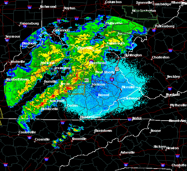 Radar Image for Severe Thunderstorms near Jeffersonville, KY at 4/3/2018 10:47 PM EDT