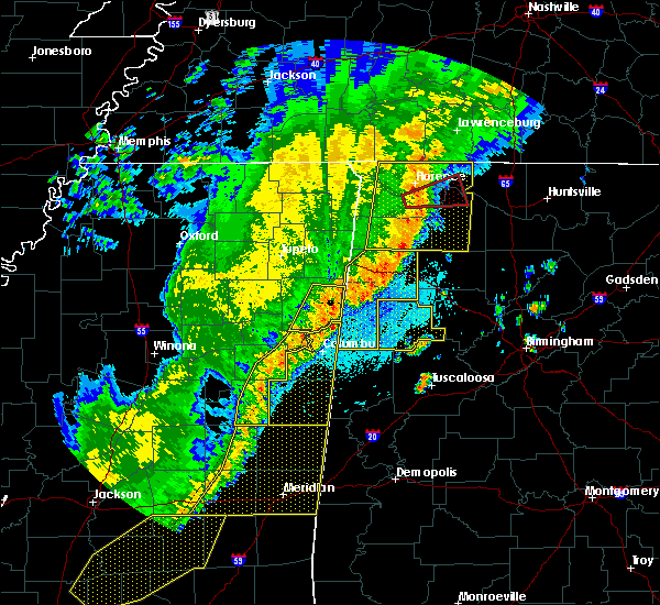 Radar Image for Severe Thunderstorms near Crawford, MS at 4/3/2018 9:50 PM CDT