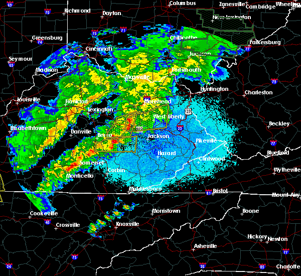 Radar Image for Severe Thunderstorms near Frenchburg, KY at 4/3/2018 10:57 PM EDT