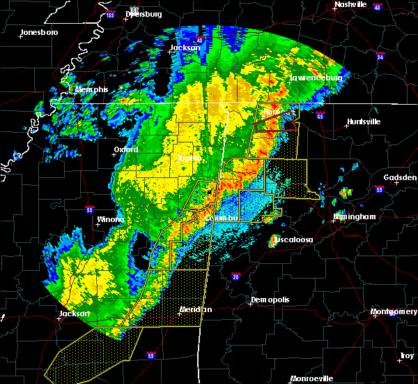 Radar Image for Severe Thunderstorms near Gattman, MS at 4/3/2018 9:57 PM CDT