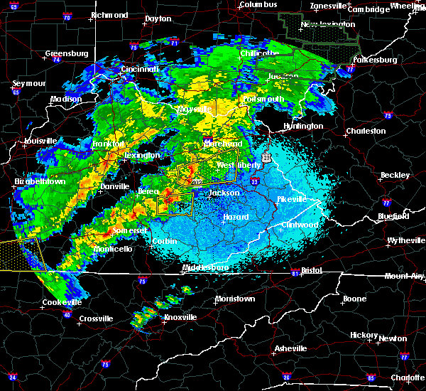 Radar Image for Severe Thunderstorms near McKee, KY at 4/3/2018 11:03 PM EDT