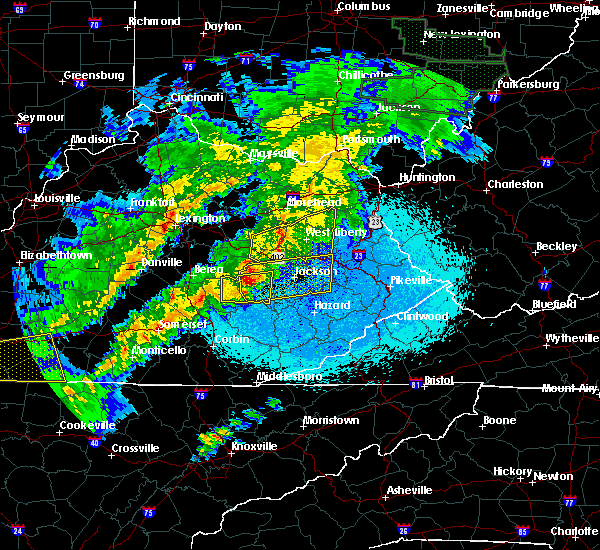 Radar Image for Severe Thunderstorms near Jackson, KY at 4/3/2018 11:09 PM EDT