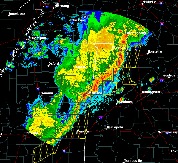 Radar Image for Severe Thunderstorms near Crawford, MS at 4/3/2018 10:13 PM CDT