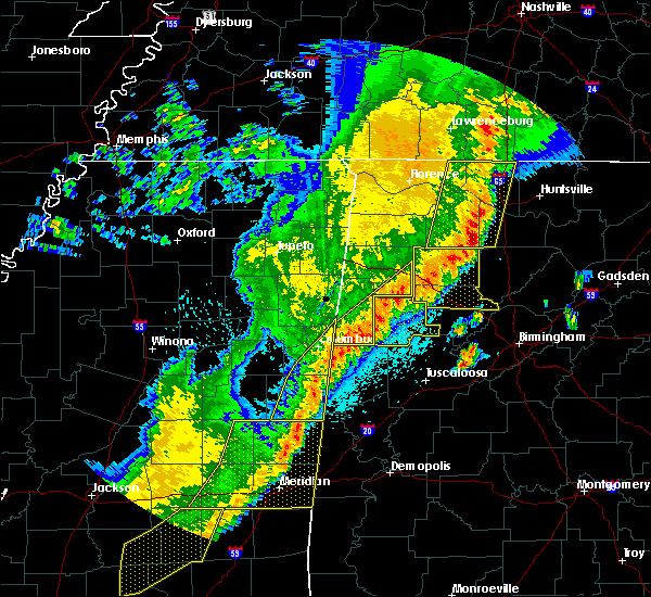 Radar Image for Severe Thunderstorms near Twin, AL at 4/3/2018 10:25 PM CDT