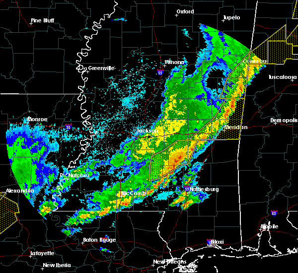 Radar Image for Severe Thunderstorms near Newton, MS at 4/3/2018 10:29 PM CDT
