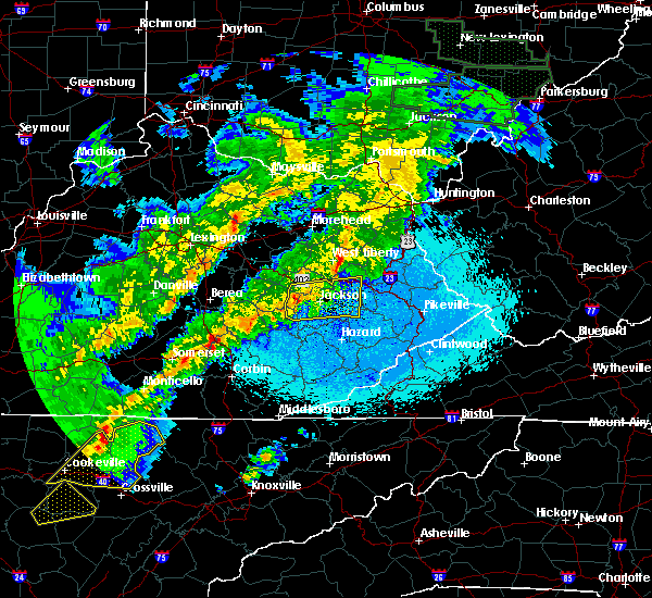 Radar Image for Severe Thunderstorms near Jackson, KY at 4/3/2018 11:35 PM EDT