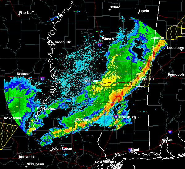 Radar Image for Severe Thunderstorms near Lauderdale, MS at 4/3/2018 10:38 PM CDT