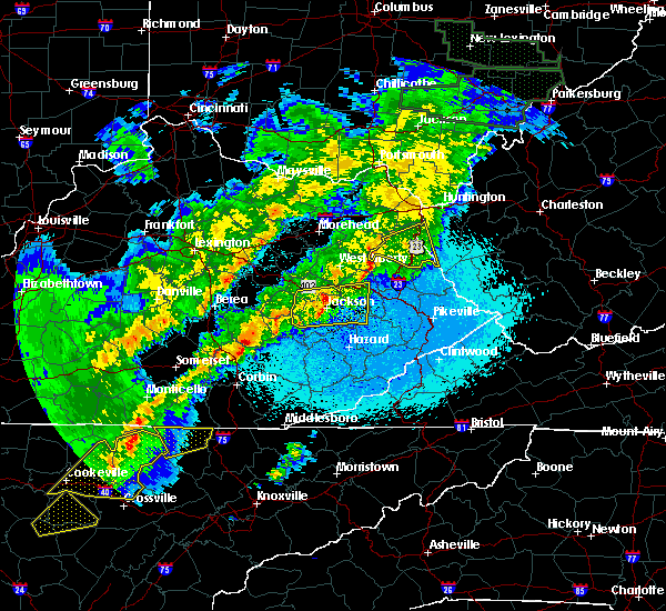 Radar Image for Severe Thunderstorms near Prestonsburg, KY at 4/3/2018 11:47 PM EDT