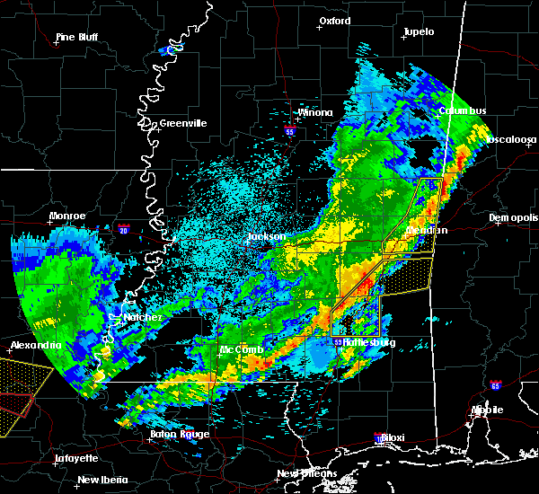 Radar Image for Severe Thunderstorms near Sandersville, MS at 4/3/2018 10:50 PM CDT