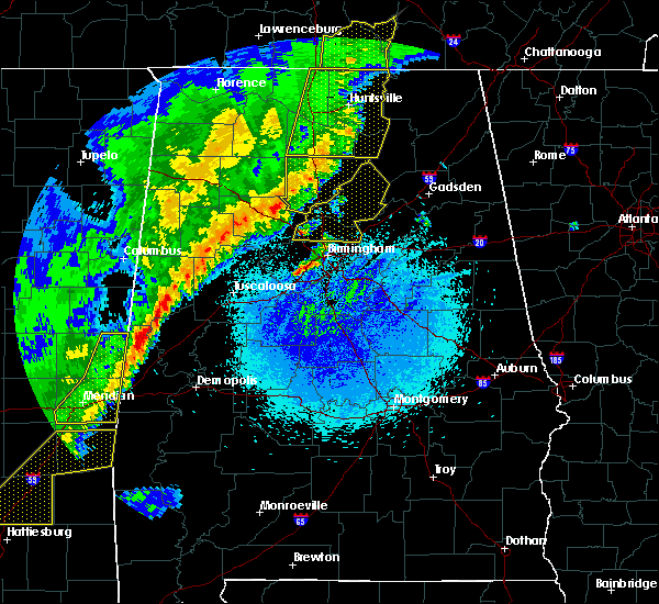 Radar Image for Severe Thunderstorms near Rosa, AL at 4/3/2018 10:56 PM CDT