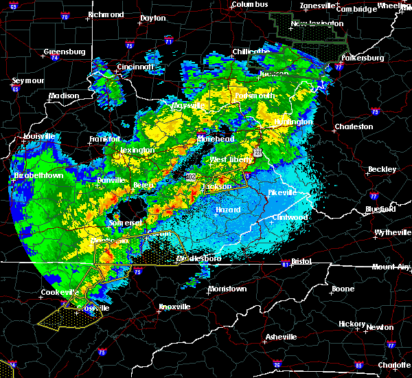 Radar Image for Severe Thunderstorms near Prestonsburg, KY at 4/4/2018 12:06 AM EDT