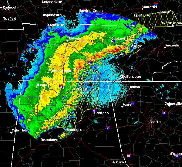 Radar Image for Severe Thunderstorms near Hytop, AL at 4/3/2018 11:06 PM CDT