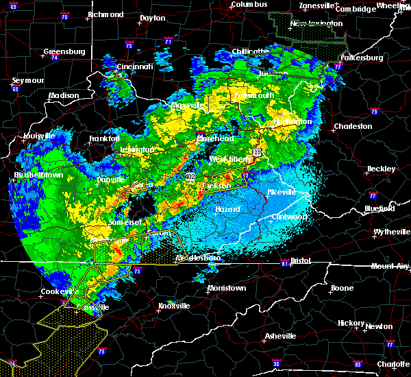 Radar Image for Severe Thunderstorms near Berea, KY at 4/4/2018 12:12 AM EDT