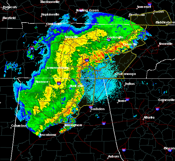 Radar Image for Severe Thunderstorms near Hytop, AL at 4/3/2018 11:21 PM CDT
